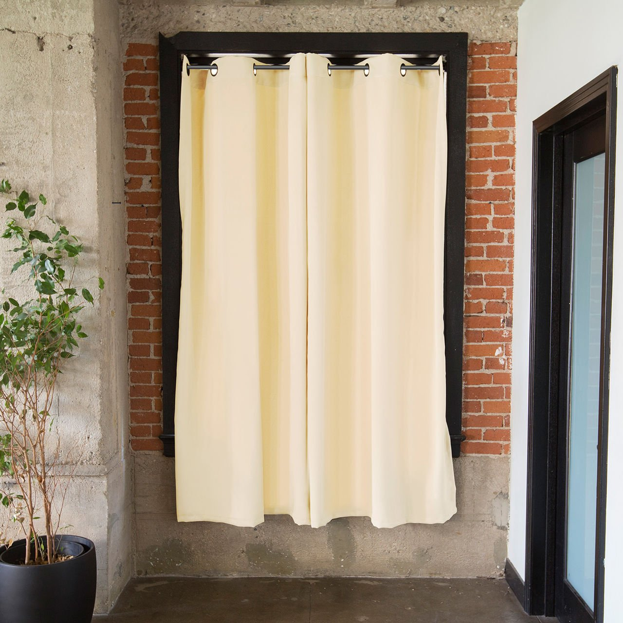 CurtainKitsNow Premium Heavyweight Tension Rod Curtain Kit - Large C, Includes Two Ivory 96'' x 50'' Wide Panels & One 80'' - 100'' Tension Rod) by CurtainKitsNow (Image #2)