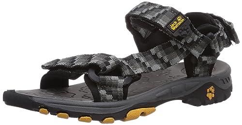 Jack Wolfskin Unisex Kids' KIDS SEVEN SEAS Athletic Sandals, Grey (Dark  Steel 6032
