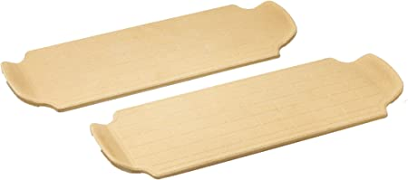 Brick Oven Direct to Flame Pizza Stone, 13-Inch, Brown, Set of 2