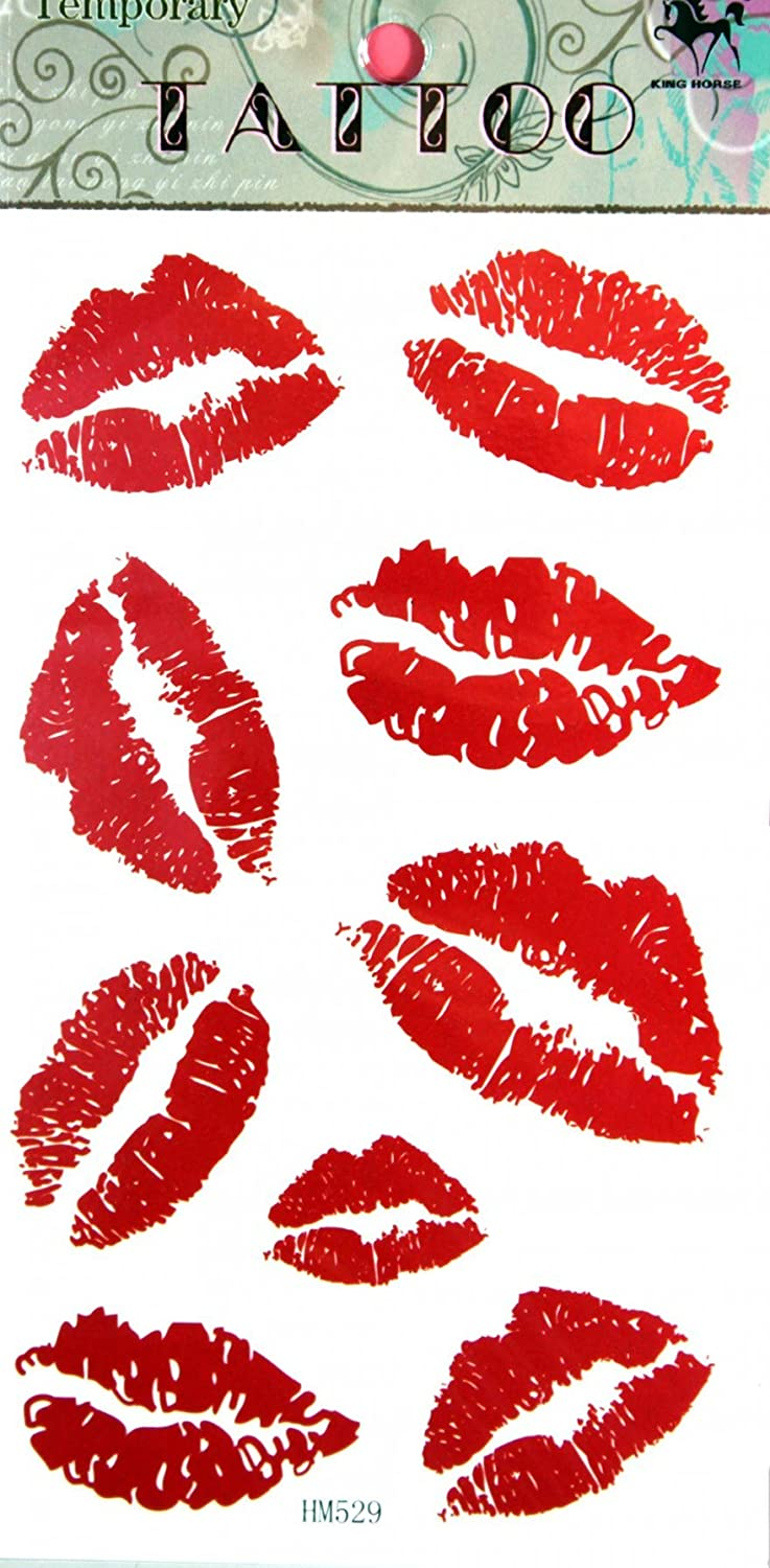 SPESTYLE waterproof non-toxic temporary tattoo stickersnew design red lip temporary temporary tattoos SS-HM529-S