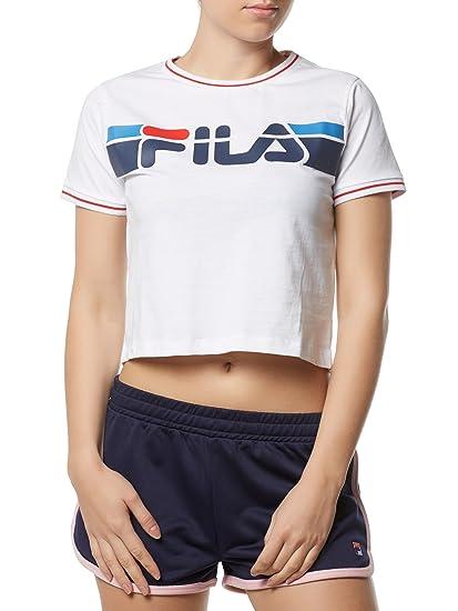 a7031c1e5b5 Fila Women T-Shirts Urban Line White M: Amazon.co.uk: Clothing
