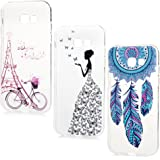 A5 2017 Version 3 x Coque de Protection YOKIRIN- Phone Case TPU Couverture Complète Léger Ultra Fin Dessin Coloré pour Samsung Galaxy A5 2017 Version - Vélo Tour Eiffel + Dream Catcher + Fée de Papillon