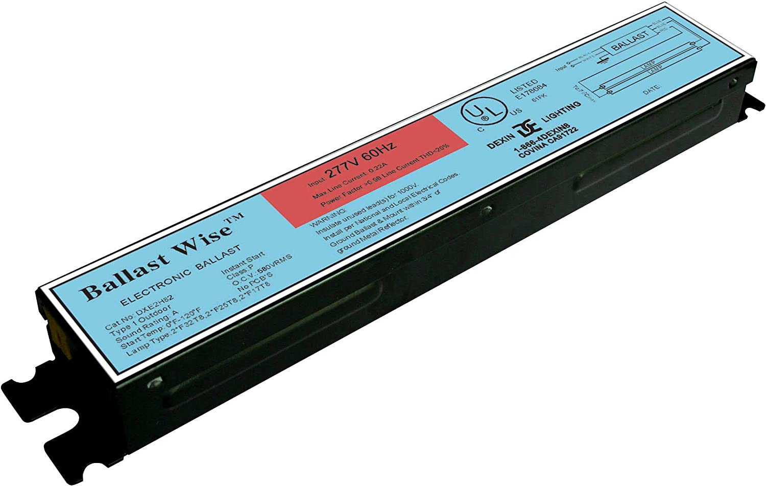 electronic ballast for 1x 58W 5 foot T8