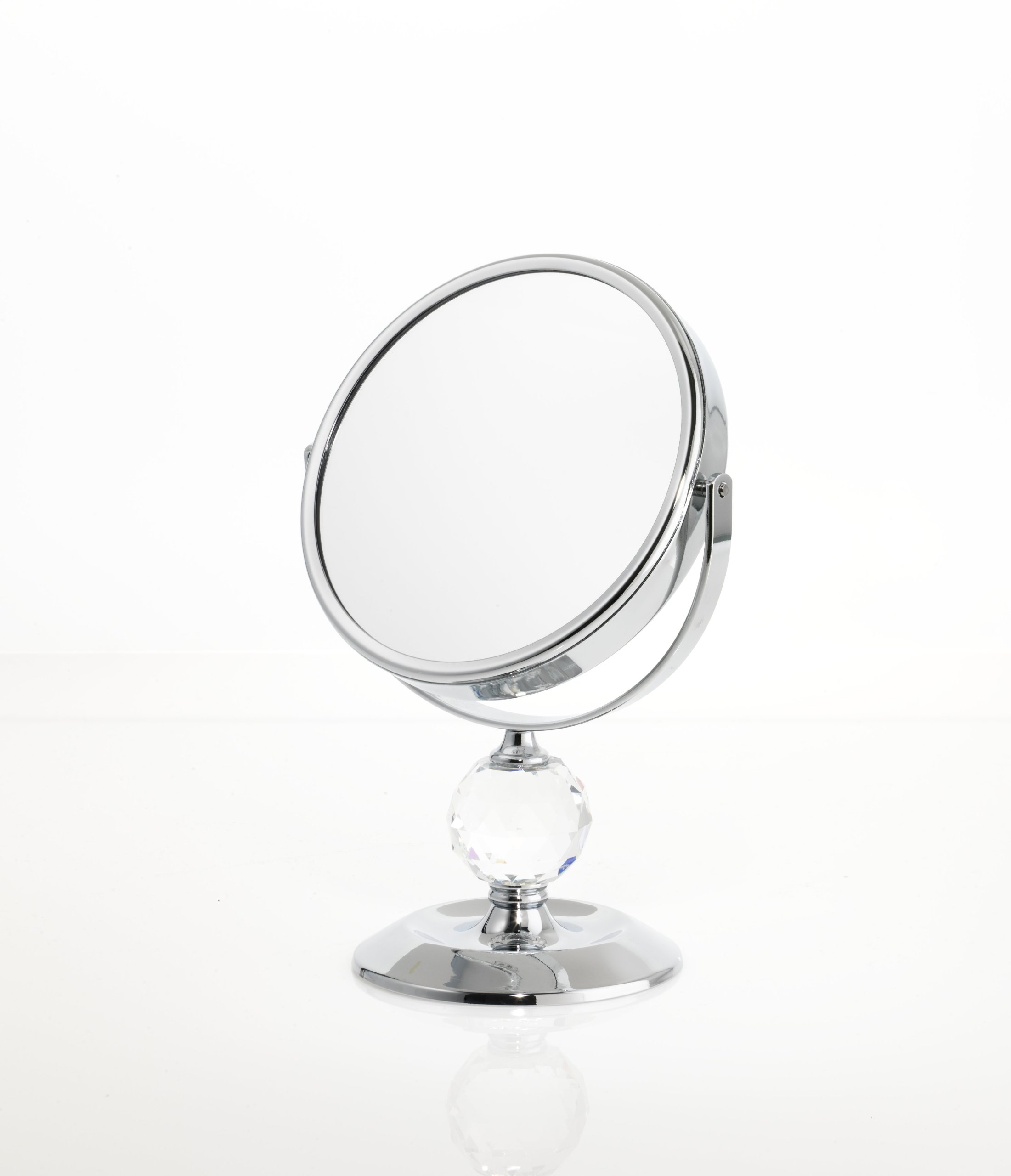 Danielle Single Crystal Ball 7x Magnification Mini Vanity Mirror