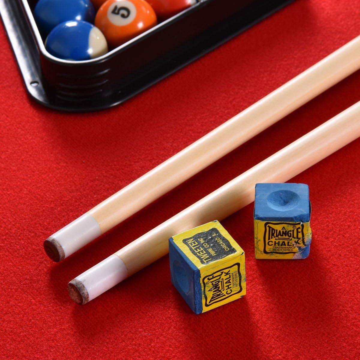 47 pulgadas plegable Snooker mesa de billar mesa de billar con bolas billar tiza trípode & marcador blue| perfecto para regalo niño niños Kids Adulto Amigos Familia parte interior al aire libre