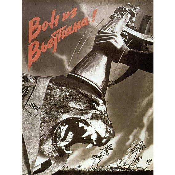 Amazon.com: Wee Blue Coo Propaganda Vietnam War Soviet USSR Anti American Gun Unframed Wall Art Print Poster Home Decor Premium: Home & Kitchen