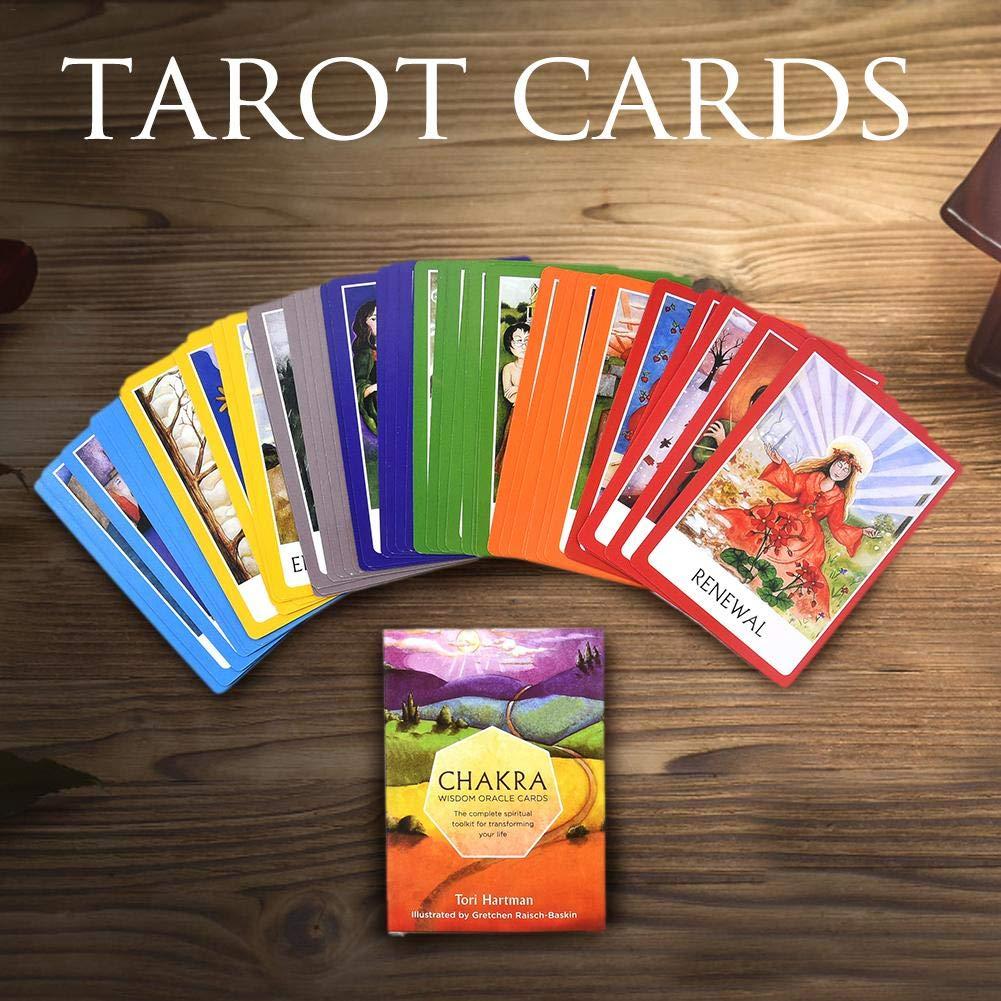 MYSTICALL 49 Cartas de Tarot del Destino del Pron/óstico Cartas de juego de mesa Ingl/és Gu/ía complementaria