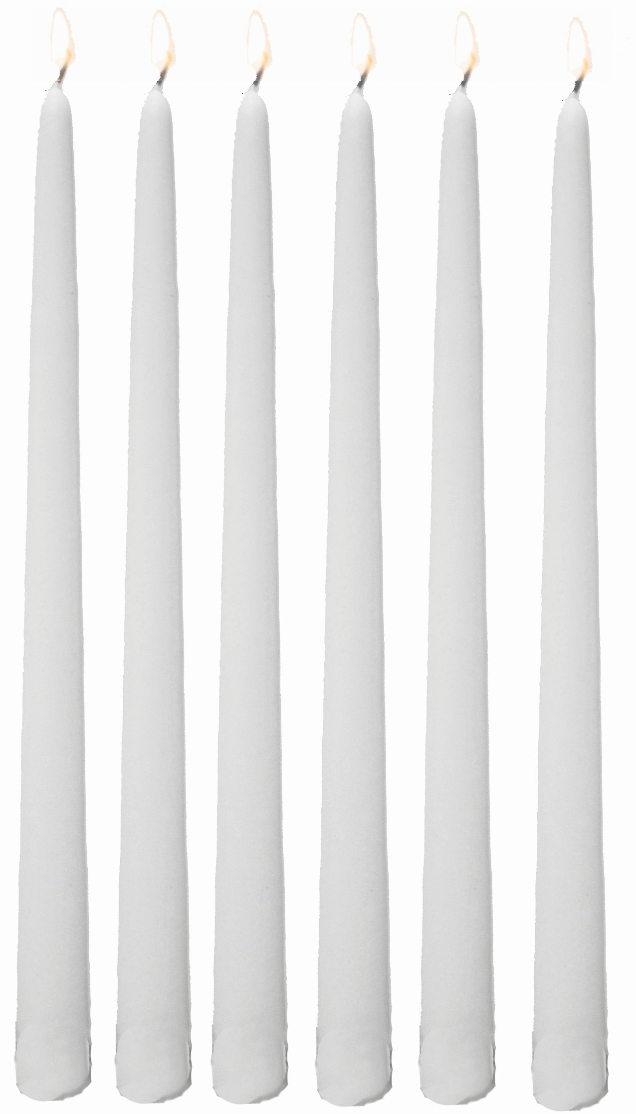 Bulk Taper Candles - Qty 144 (12 Inch, White) by D'light Online