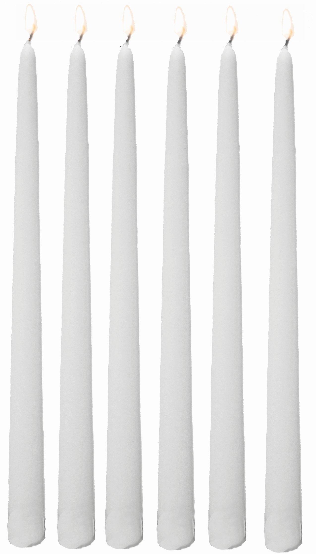 Bulk Taper Candles - Qty 144 (12 Inch, White)