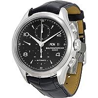 Baume Et Mercier Capeland Chronograph Black Dial Black Leather Mens Watch