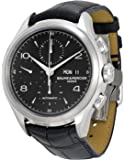 Baume Et Mercier Capeland Chronograph Black Dial Black Leather Mens Watch Moa10211