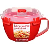 Sistema Microwave Collection Noodle Bowl, 31.7 Oz, Red