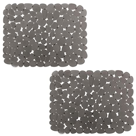 Fine Kitchen Sink Mats Yolife Adjustable Sink Protector For Stainless Steel Porcelain Sink Dark Gray2 Packs Interior Design Ideas Skatsoteloinfo