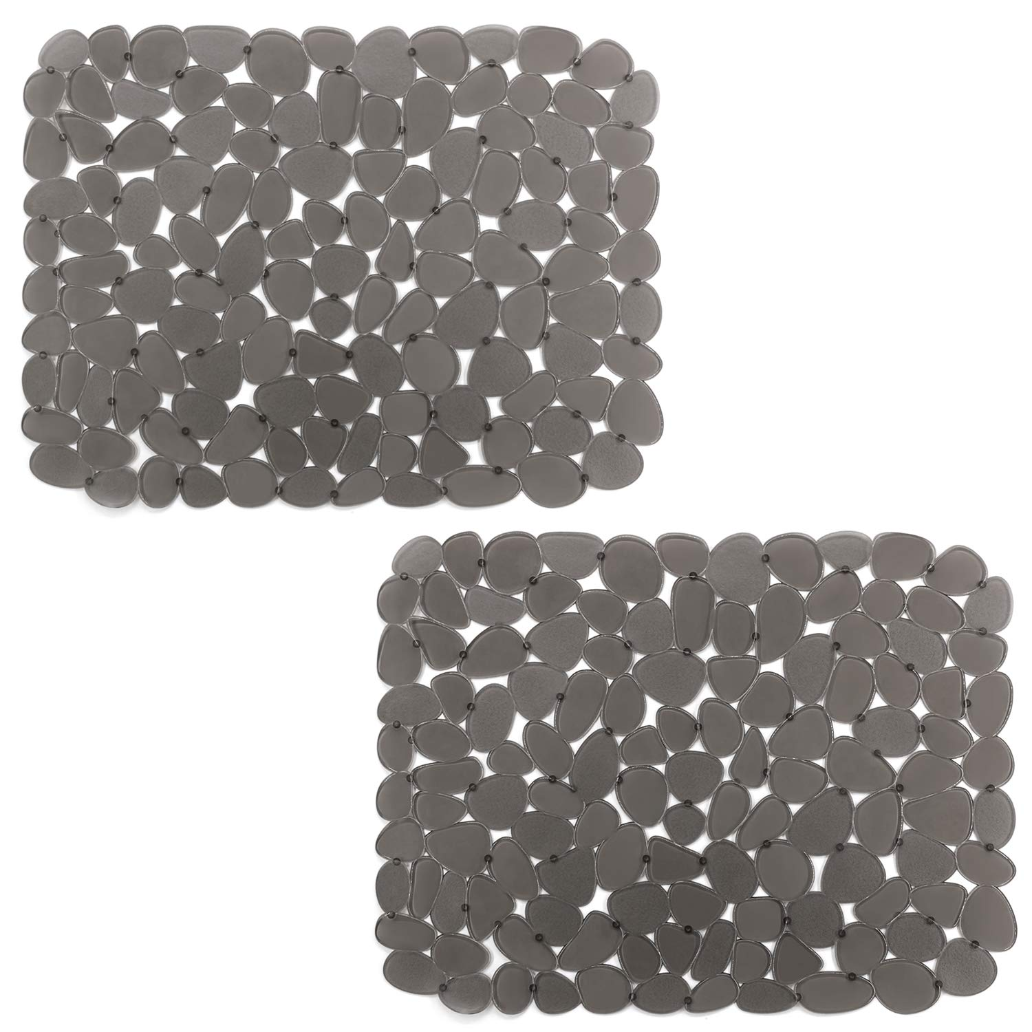 Kitchen Sink Mats, Yolife Adjustable Sink Protector for Stainless steel/Porcelain sink, Dark Gray(2 Packs)
