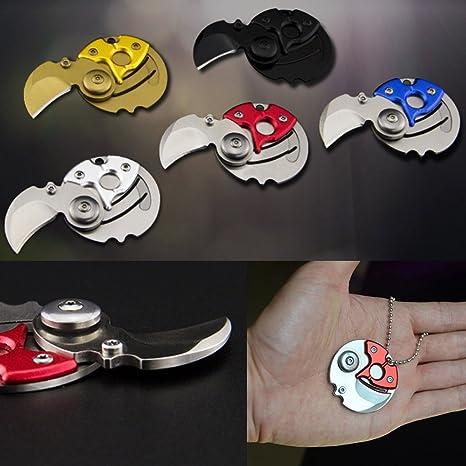 Amazon.com: Creative coin-shape cuchillo EDC – Navaja ...