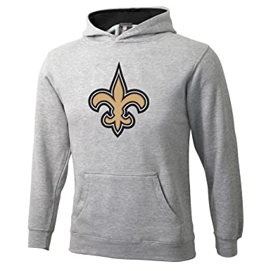 Nfl New Orleans Saints 8 20 Youth Grey Sportsman Pullover Fleece Hoodie Grey Small