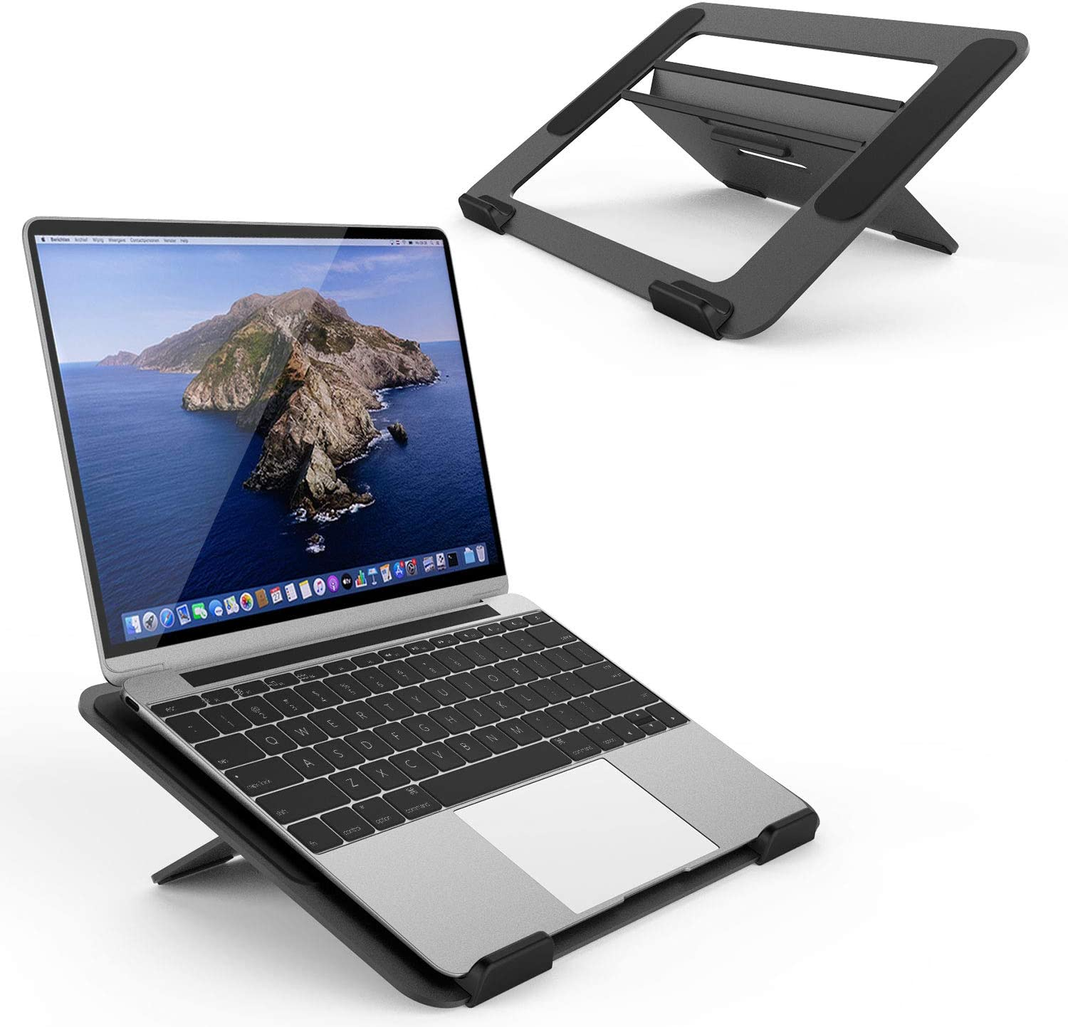 "Avankin YS104 Adjustable Aluminum Laptop Cooling Stand for Desk, Portable Holder for iPad Book, Foldable Computer Riser with Ergonomic Height for MacBook Pro/Air, Dell, HP and More 9.7-16"" Notebook"