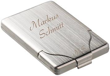 Zigarettenetui Mit Gravur Visitenkartenetui Mit Gravur Mattsilber Edelstahl Zigarettenbox Visitenkartenbox Personalisiert