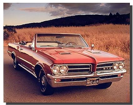 Amazon.com: 1964 Pontiac GTO Vintage Classic Car Wall Decor Art ...