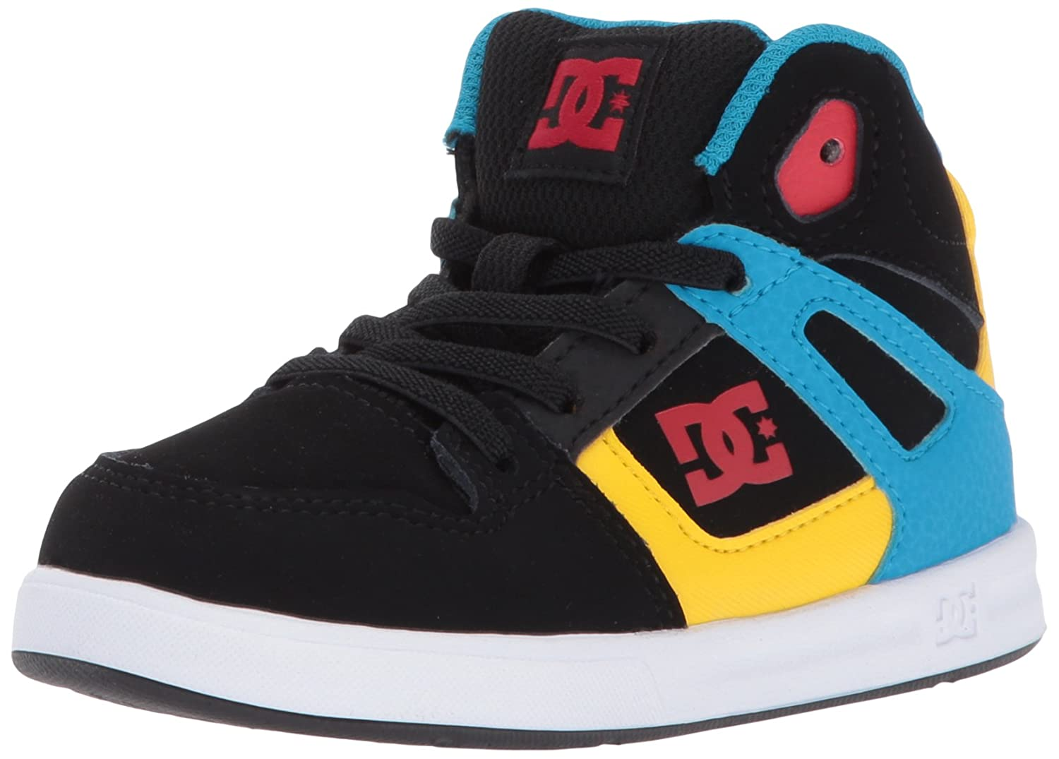 DC Youth Rebound Skate Shoes B01N4E9ZMF 6 M US Toddler|Black/Multi/White