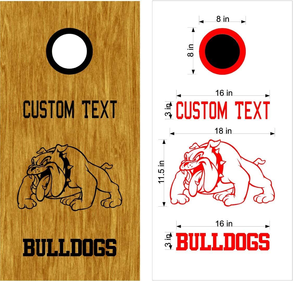 Badgers Mascot スポーツチーム コーンホールボード デカールステッカー 両方のボードに十分 B07HNM7B1R