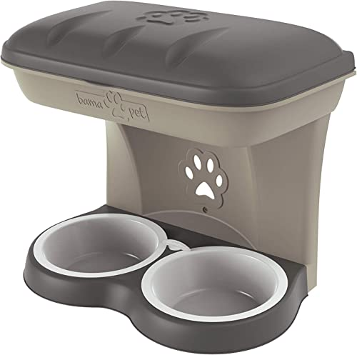 Bama Pet Elevated Food Stand – Large, Taupe