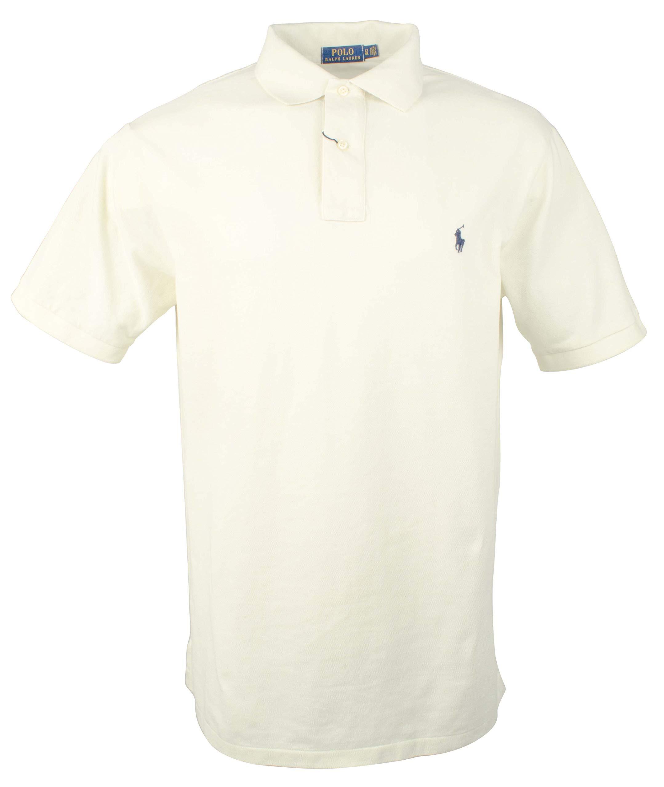 Polo Ralph Lauren Mens Big & Tall Big Tall Weathered Mesh Polo Shirt (2X Tall, Chic Cream)