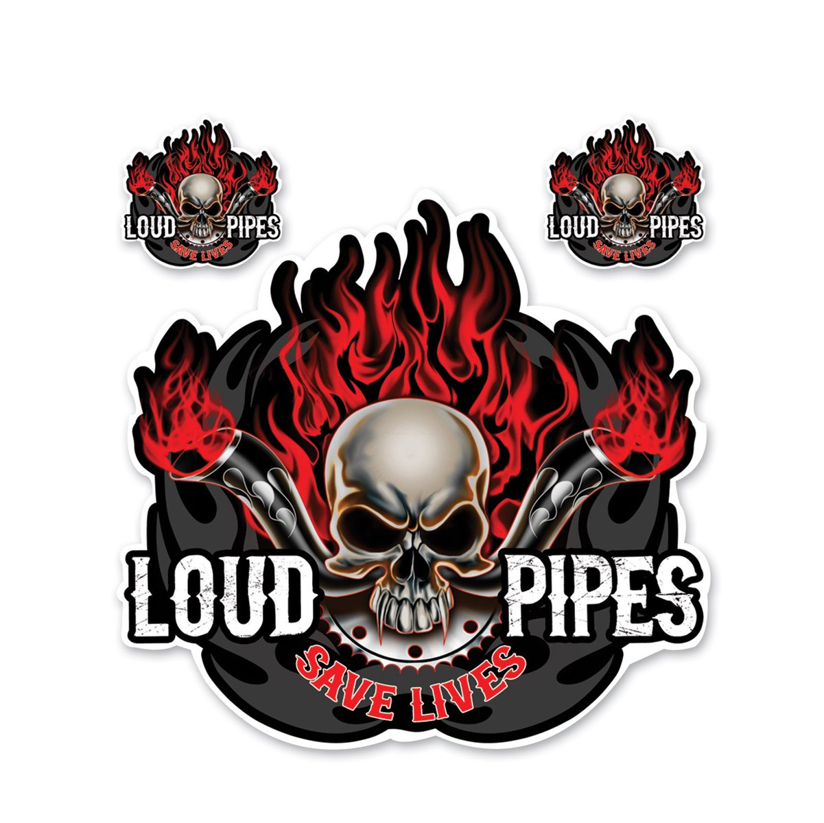 Lethal Threat Designs Loud Pipes Save Lives Decal