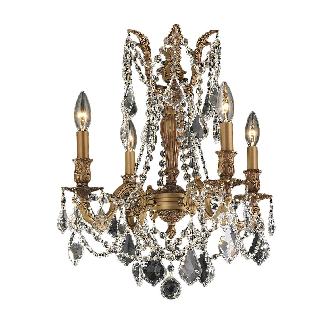 Worldwide Lighting Windsor Collection 4 Light French Gold Finish and Clear Crystal Chandelier 17'' D x 21'' H Medium by Worldwide Lighting (Image #1)