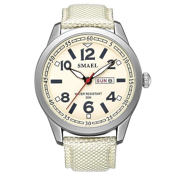 Beydodo Reloj Deportivo Reloj Quartz Reloj Multifunción Reloj Hombre Reloj Impermeable Relojes Calendario Caqui: Amazon.es: Relojes