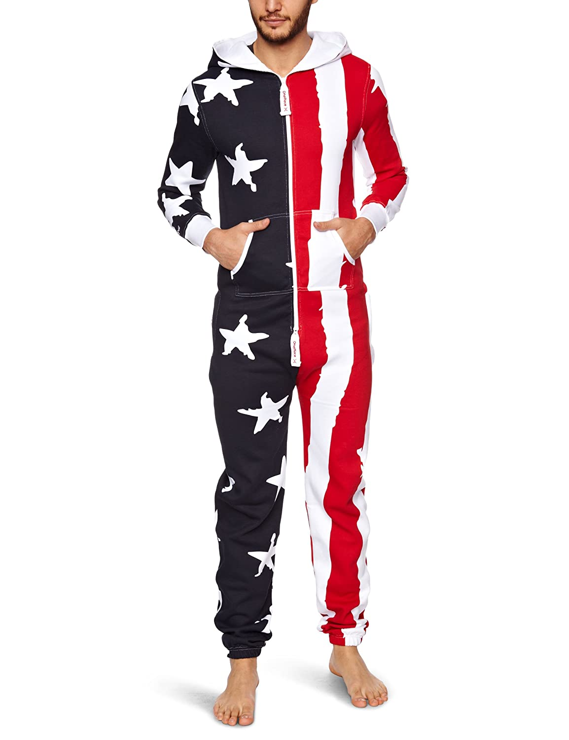 Onepiece Unisex Jumpsuit Stars And Stripes