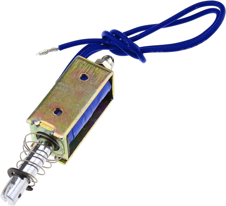 24V 300mA 5N rango retr/áctil 10 mm 12V A trav/és de control de automatizaci/ón de electroim/án de CC push-pull 6//12