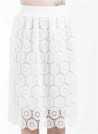 Otzi- Falda crochet, por la rodilla, con cinturilla, para chica o ...