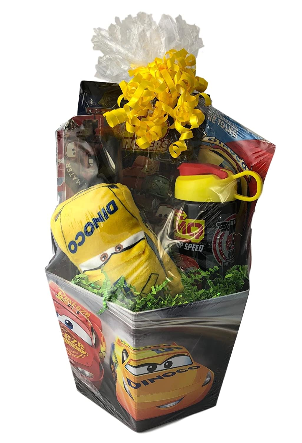 Prefilled Cars McQueen Premade Gift Basket Boys Pretend Play Set No Sugar Just Toys Generic