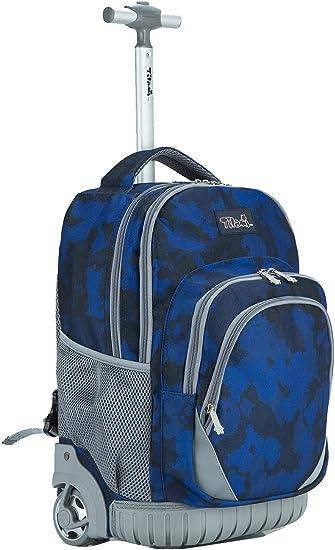 Tilami Rolling Backpack Armor Luggage School Travel Book Laptop 18 Inch Multifun