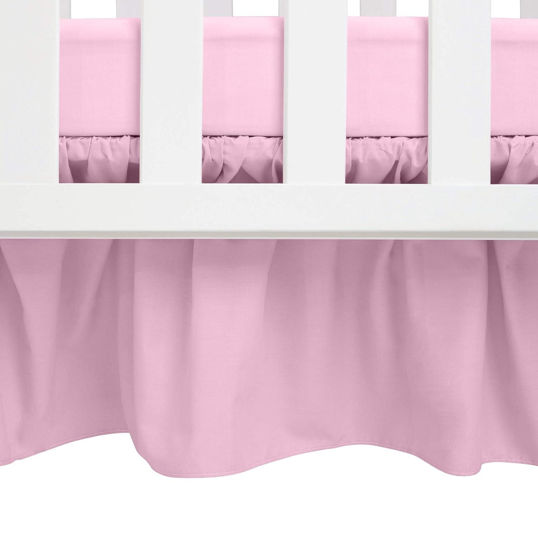 B000IG8IFU Babydoll Round Crib Solid Dust Ruffles, Pink 7131edPxIHL