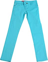 1871418c9ea Hey Collection Big Girls Brushed Stretch Twill Skinny Jeans