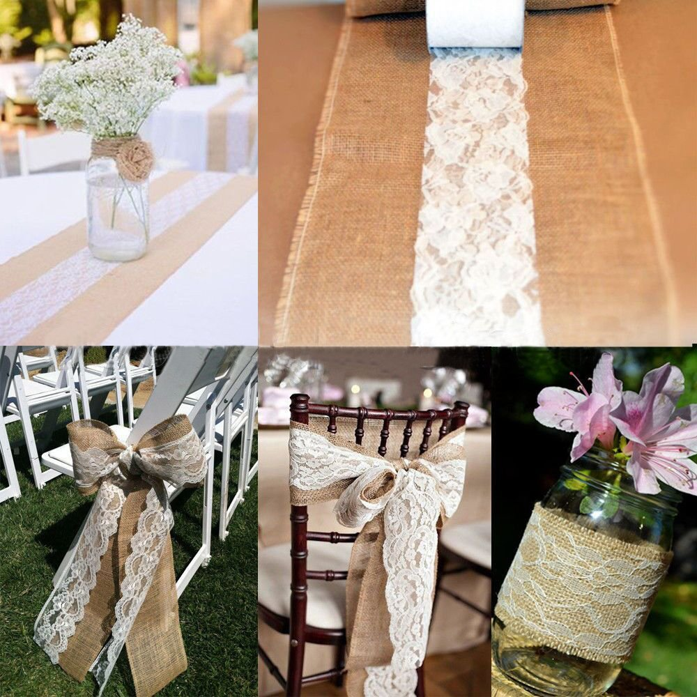 Psmgoods Vintage Lace Roll Table Runner Table Centerpieces Chair