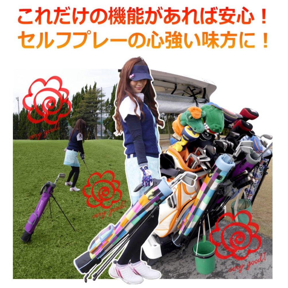 Azrof Golf Women's Half Size Club Case Caddie Stand Bag, Pink Camo by Azrof Golf (Image #4)