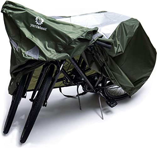 YardStash Bike Covers Outdoor Storage Waterproof - Safe, Reflective Outdoor Bicycle Cover