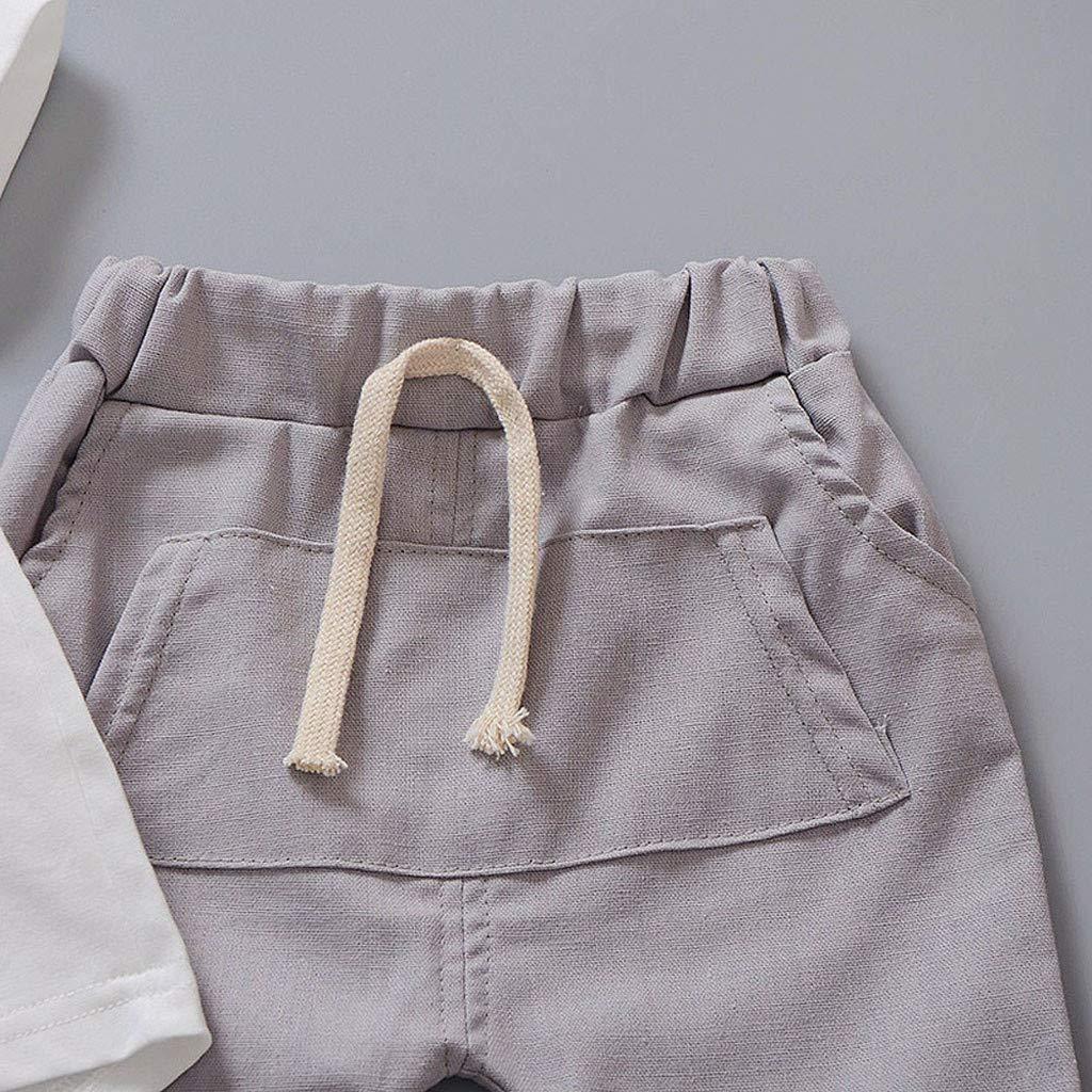 Koolee Baby Girls Elephant Print Tops Pants Little Girls Summer Outfits Short Set