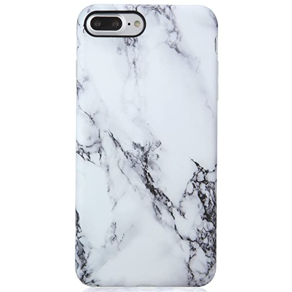 Estuche iPhone 7 Plus y 8 Plus, diseño creativo de mármol, A2EBALLART Estuche protector TPU de caucho TPU suave y flexible para iPhone 7 Plus y iPhone ...