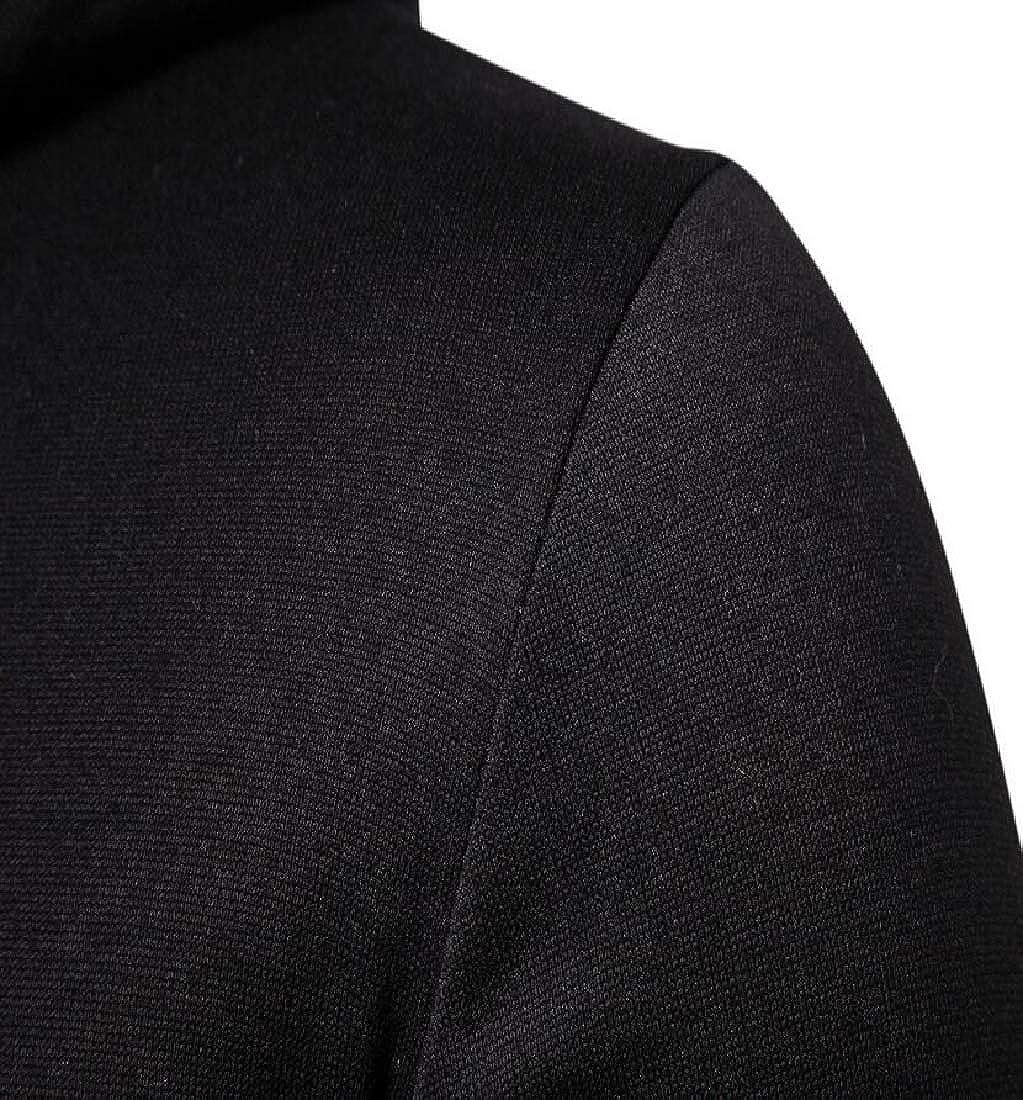 yibiyuan Men Long Sleeve Camo Casual Fashion Patchwork Sweater
