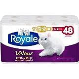 Royale Velour, Plush & Thick Toilet Paper, 12 Mega equal 48 rolls, 284 bath tissues per roll
