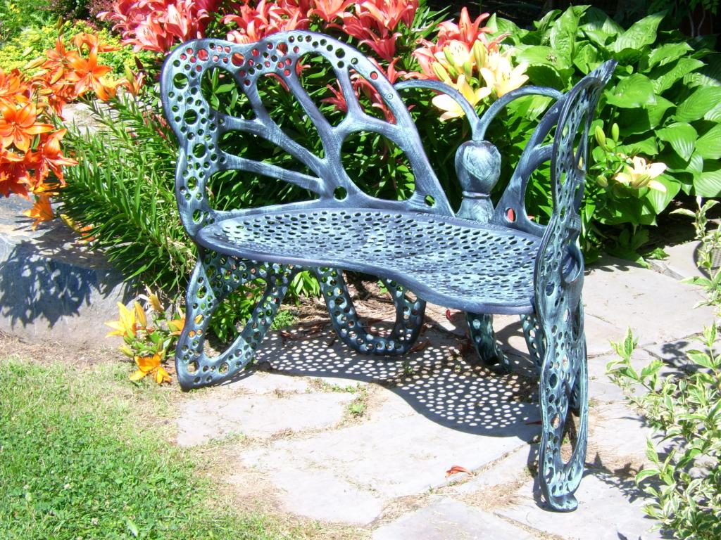 Amazon Com Flower House Fhbfb06a Butterfly Bench