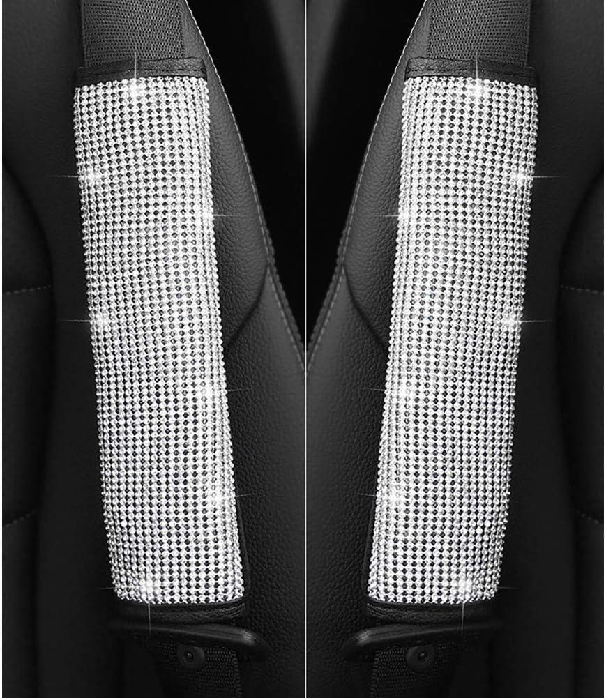 Noennull Auto Sicherheitsgurt Schulterpolster 1pc Universal Bling Bling Kristall Strass Auto Gurtpolster Küche Haushalt