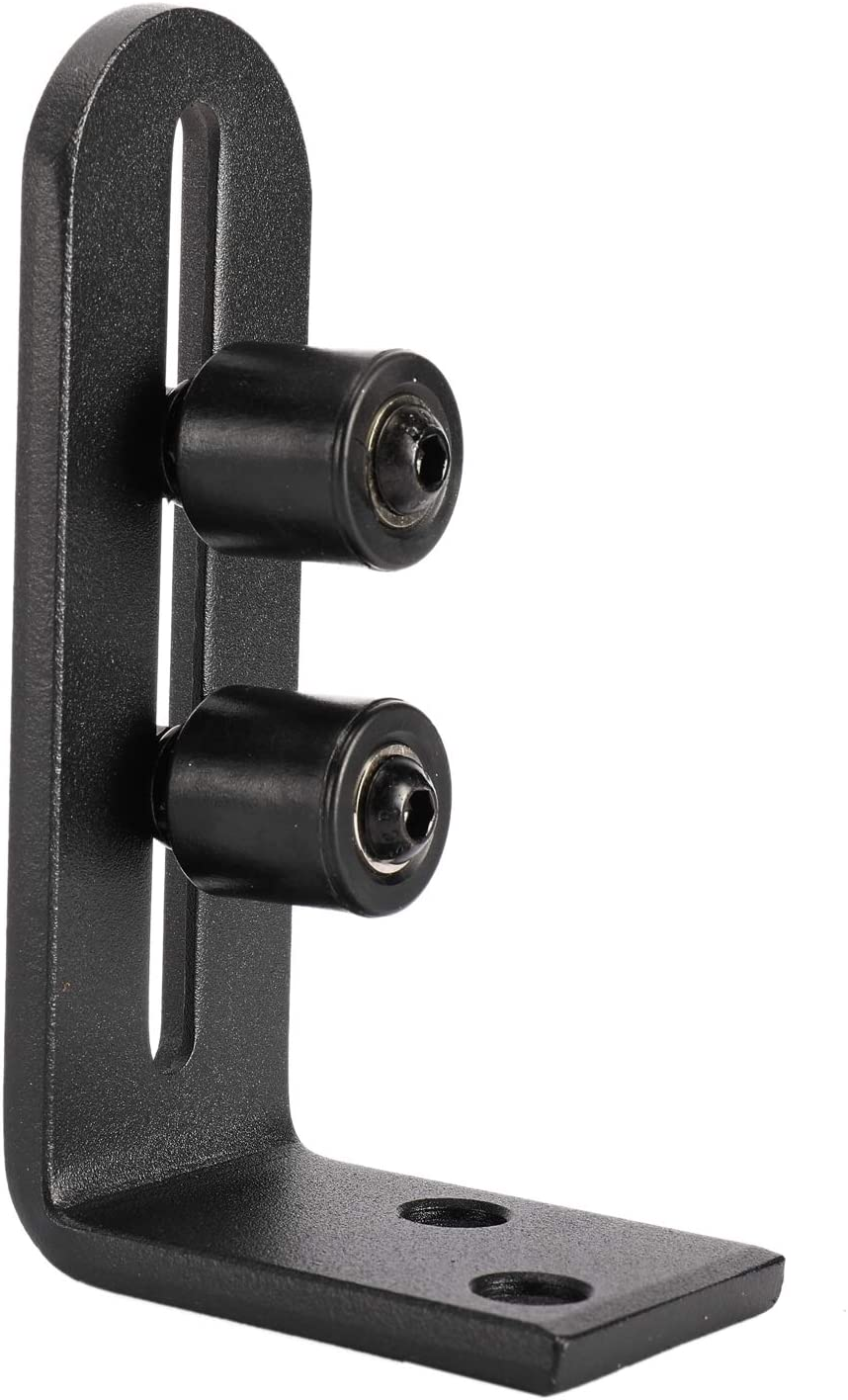 HighFree Sliding Barn Door Floor Guide Adjustable Stay Roller Floor Guide with Ball Bearings for Sliding Barn Door New Upgraded 2 Pack Including Wrench and Screws