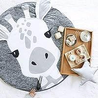 USTIDE Baby Rugs Creeping Crawling Mat Cartoon Sleeping Rugs, Children Anti-Slip Game Mat Cotton Floor Play Mat Blanket…