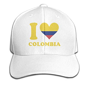 Osmykqe I Love Colombia Unisex Summer Sunhat Ajustable Casual Golf ...
