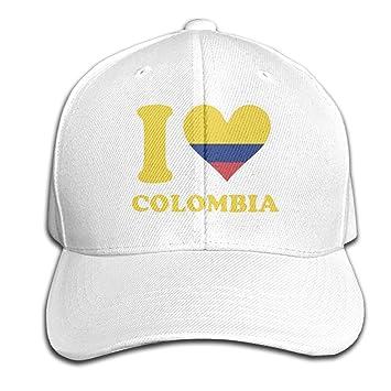 Osmykqe I Love Colombia Unisex Summer Sunhat Ajustable Casual Golf ...